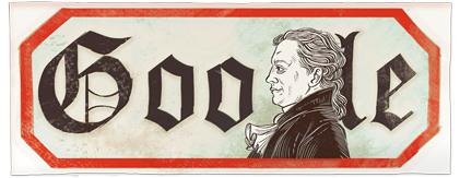 Google Logo: Johann Wolfgang von Goethe's 262nd birthday - German writer, pictorial artist, biologist, theoretical physicist, and polymath