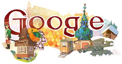 Google Doodle für den 26. Oktober (österreichischer Nationalfeiertag)