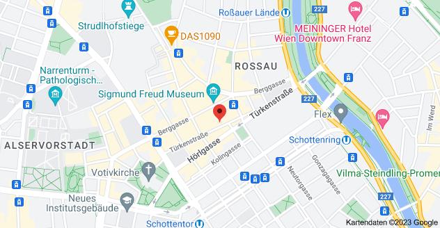 Karte von Türkenstraße 19, 1090 Wien