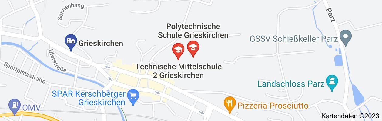 Karte von schulzentrum grieskirchen adresse