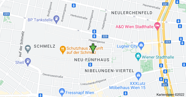 Karte von Camillo-Sitte-Gasse 6, 1150 Wien